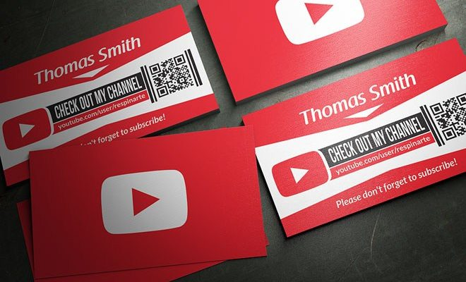 Youtube business cards psd template free 2017 reheart Image collections