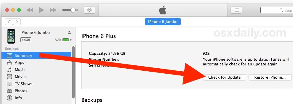Downgrade iOS 11 with update in iTunes and choosing IPSW