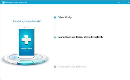 Connect Android phone to PC to do Samsung Glaxy data recovery