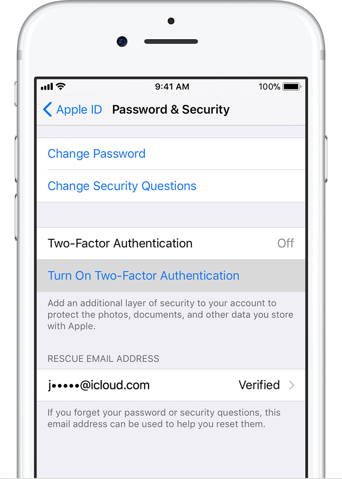 turn off two factor authentication